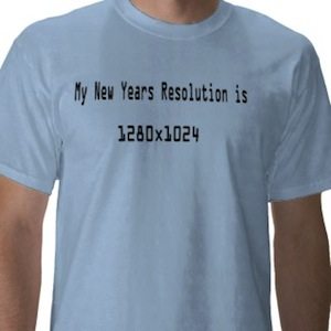 new years resolution for geeks t-shirt