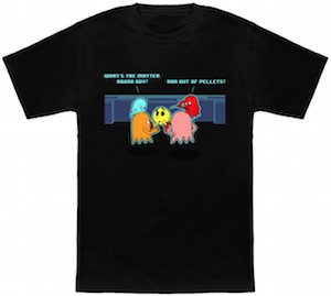 Pac man being bullied t-shirt
