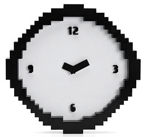 8 bits Pixellated wall clock