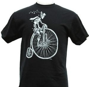 biker robot funny t-shirt