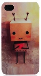 wooden robot iPhone 4S case