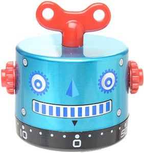 Blue robot kitchen timer