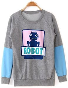 womens Robot Sweater