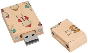 Cartoon Rocket Ship Flash Drive
