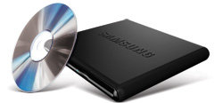 External DVD burner from Samsung great for you macbook air