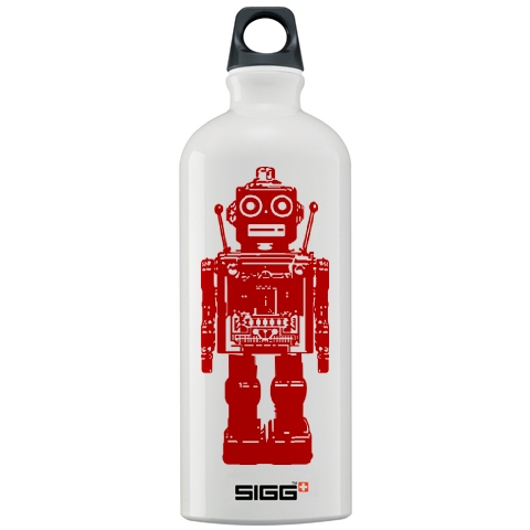 A robot water bottle from Sigg