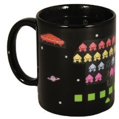 Heat changing space invaders mug