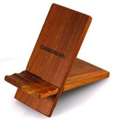 Wooden tablet stand made for the apple ipad