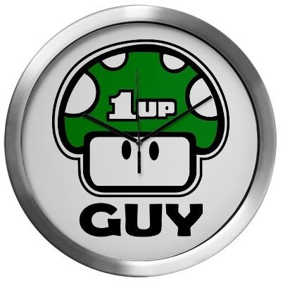 1up guy wall clock