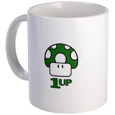 coffee and a familiar Nintendo friend