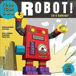 foldable robot calendar