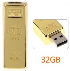 32GB gold bar flash drive