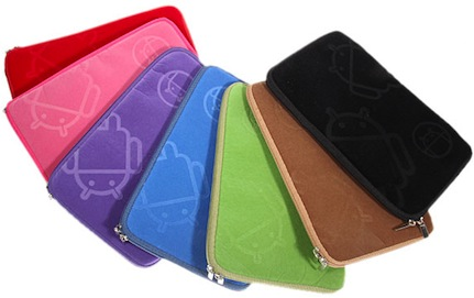 "7"" tablet case with android on it"