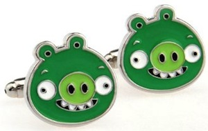 Angry Birds Pig Cufflinks
