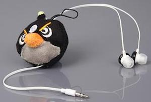 Angry Birds Black Bird earbuds