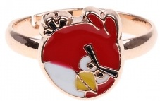 Angry Birds red bird metal ring