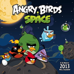 Angry Birds in space 2013 wall calendar
