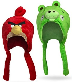 Angry Birds winter wear, Red bird and pig beanie hats