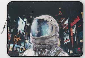 Astronaut On Time Square Laptop Sleeve