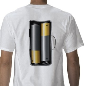 Battery powered Human t-shirt