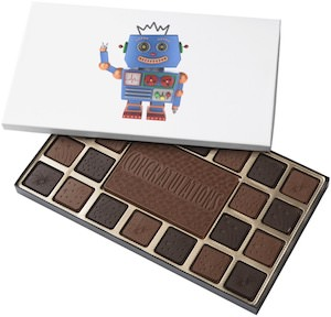 Blue Robot Chocolates