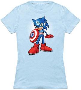 Captain Sonic The Hedgehog T-Shirt