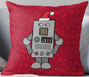 Christmas Robot Pillow