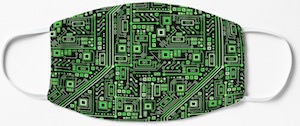 Circuit Board Face Mask