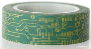 Computer Circuit Board Washi Tape