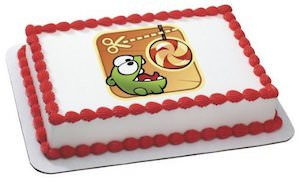 Cut The Rope Om Nom Edible Cake Topper Image