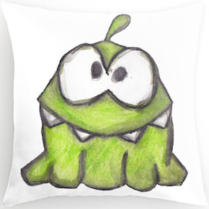 Cut The Rope Om Nom Pillow