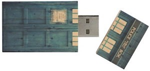 Wooden Doctor Who Tardis Flash Drive