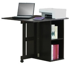 4d concepts folding desk expresso great for small spaces
