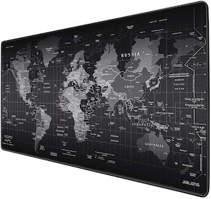 Large World Map Gaming Mousepad