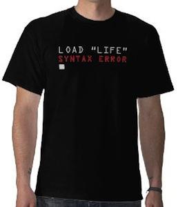 Load Life syntax error t-shirt