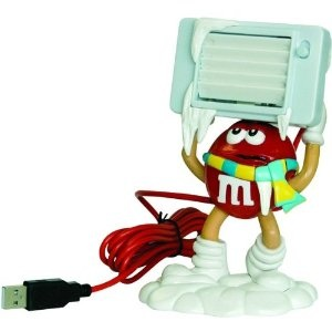 M&M usb desk fan for a cool breeze at your desk.