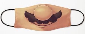 Nintendo Mario Mustache Face Mask