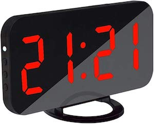 Modern Alarm Clock With USB Charging