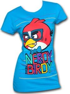 Angry Birds red bird dress up as a nerd t-shirt