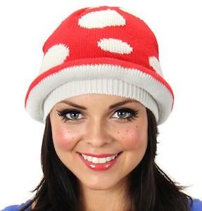 Nintendo Knit Mushroom Winter Hat