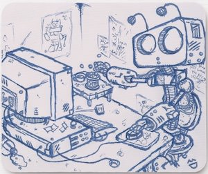 Office Robot Mousepad