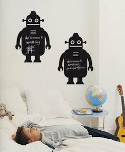 Robot Chalkboard Wall Decal sticker