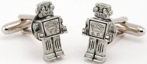 Retro Robot Cufflinks