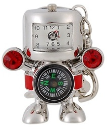 Robot USB flash drive with a clock and a compass