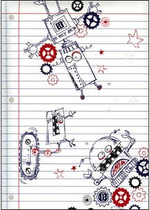 robots journal / notebook great for back to school