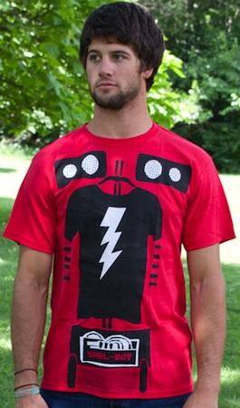 Sheldon Cooper as Shel-Bot on this Big bang theory t-shirt