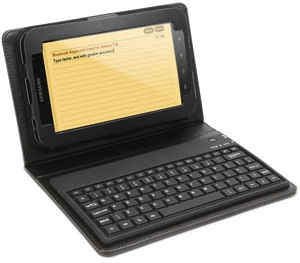 Bluetooth keyboard case for the Samsung Galaxy Tab
