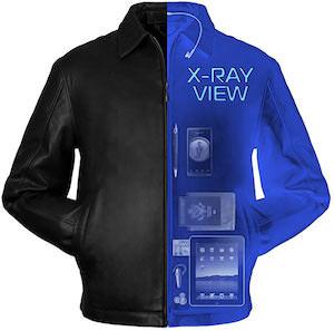 ScotteVest SeV Leather Jacket