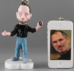 Steve Jobs figure cell phone charm
