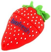 Strawberry shaped thumb drive